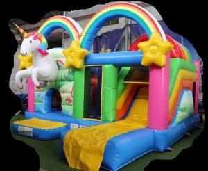 unicorn paard springkussen multiplay getup verhuur huren scharsterbrug voorzijde zij